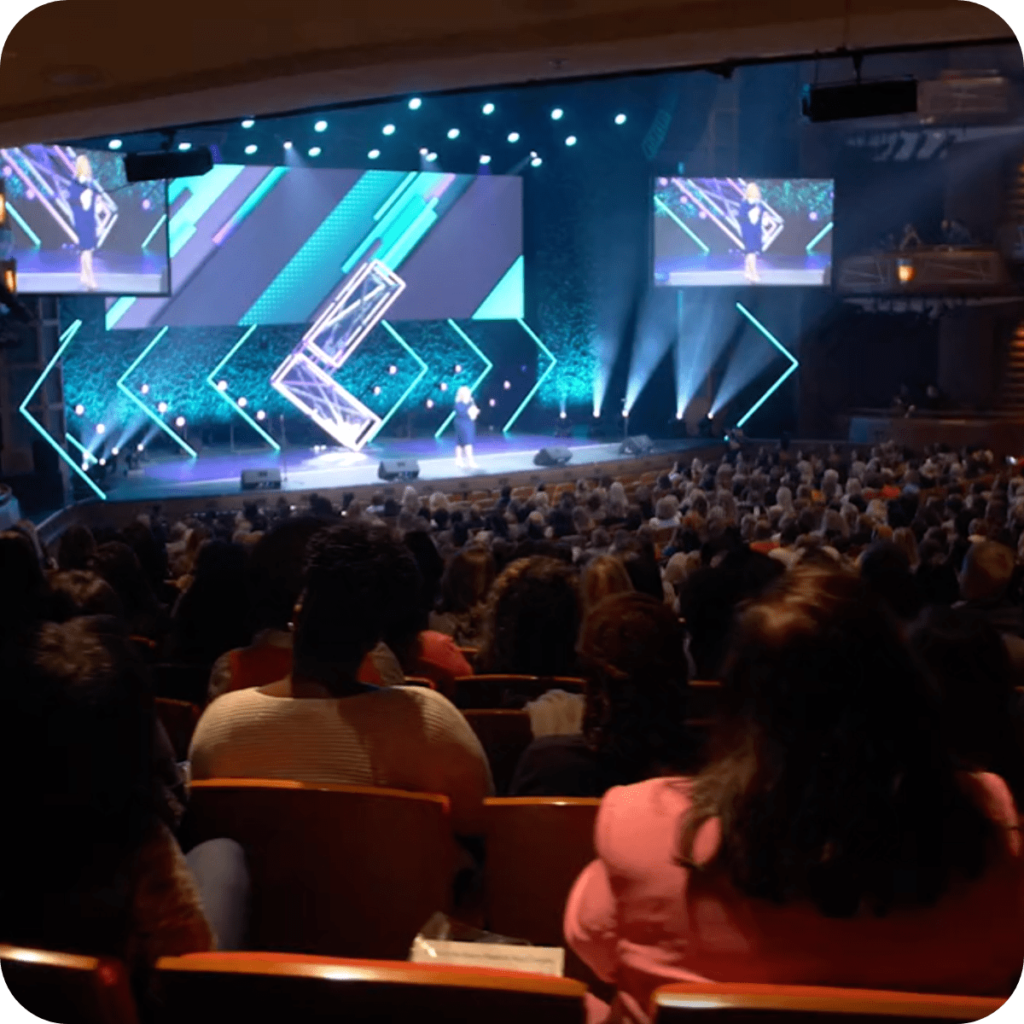 audience watching a leadercast event
