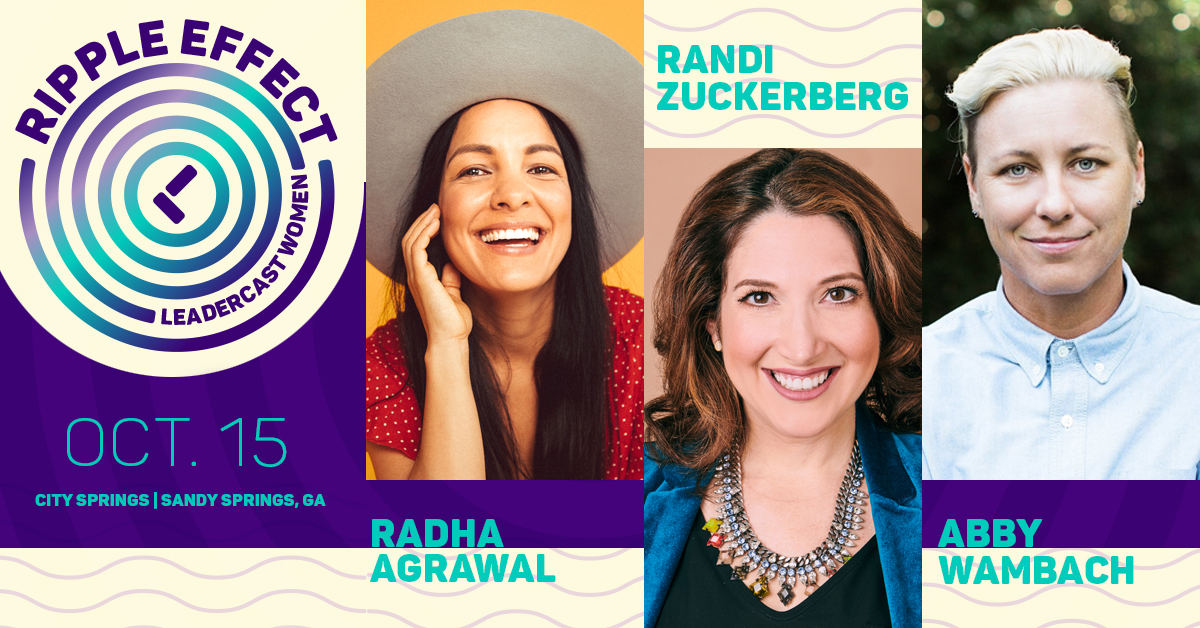 Leadercast announces first three of the six world-leading women to be featured on the Leadercast Women 2020—Ripple Effect stage on Oct. 15